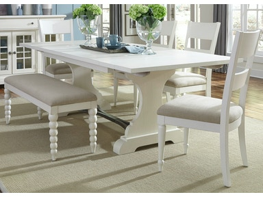 Liberty Furniture 6 Piece Trestle Table Set 631-DR-6TRS