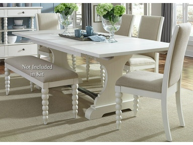 Liberty Furniture Opt 5 Piece Trestle Table Set 631-DR-O5TRS