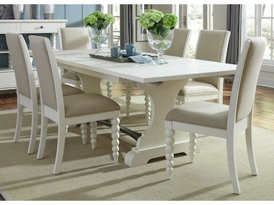 Liberty Furniture Opt 7 Piece Trestle Table Set 631-DR-O7TRS