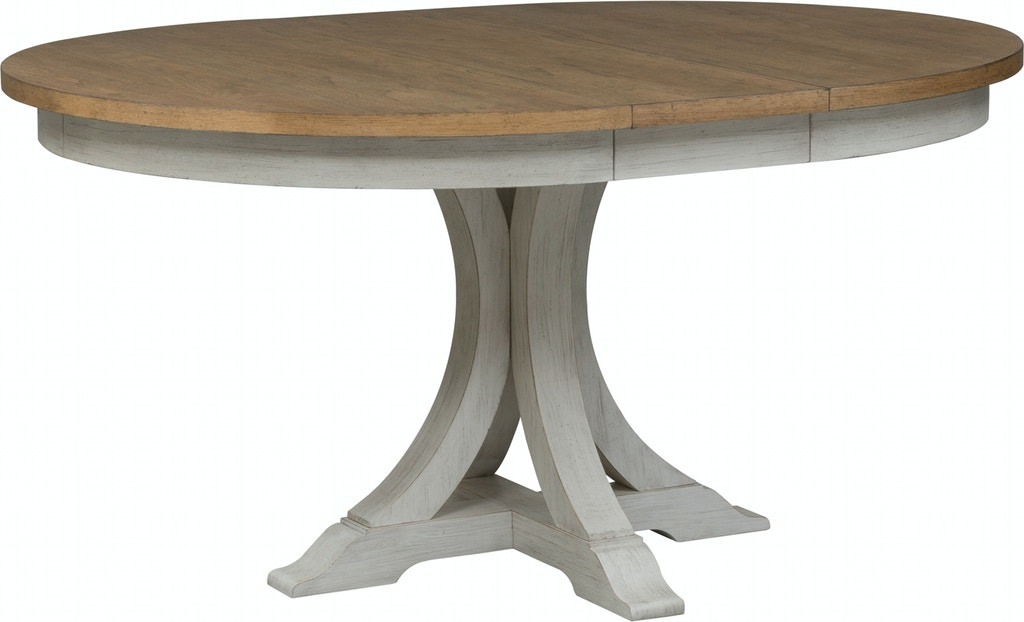 Liberty Furniture Dining Room Oval Pedestal Table Base 652 P4860 Capital Discount Furniture