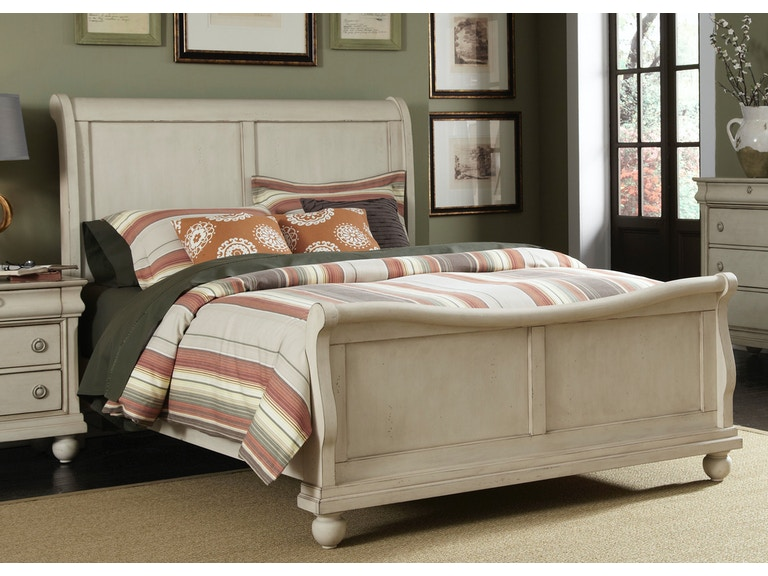 homestead collection su bedroom king sleigh footboard and slats 689 br22f at sofas unlimited - Sofas Unlimited