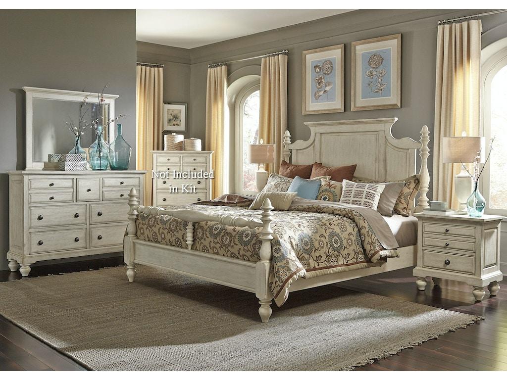 Liberty Furniture Bedroom King Poster Bed Dresser And Mirror N S 697 Br Kpsdmn Seaside