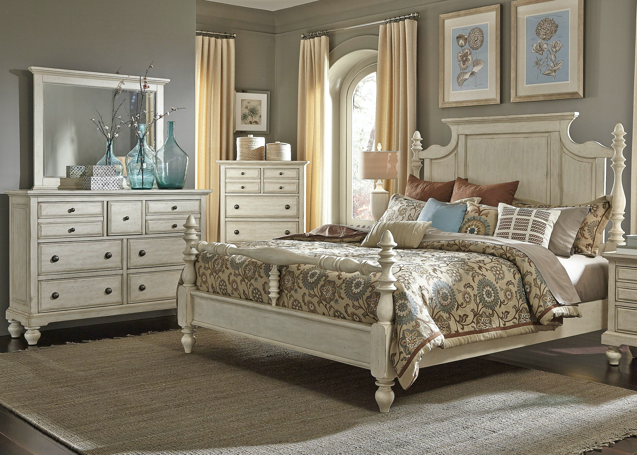 Liberty Furniture Bedroom Poster Bed Rails 697 BR90 At China Towne Furniture