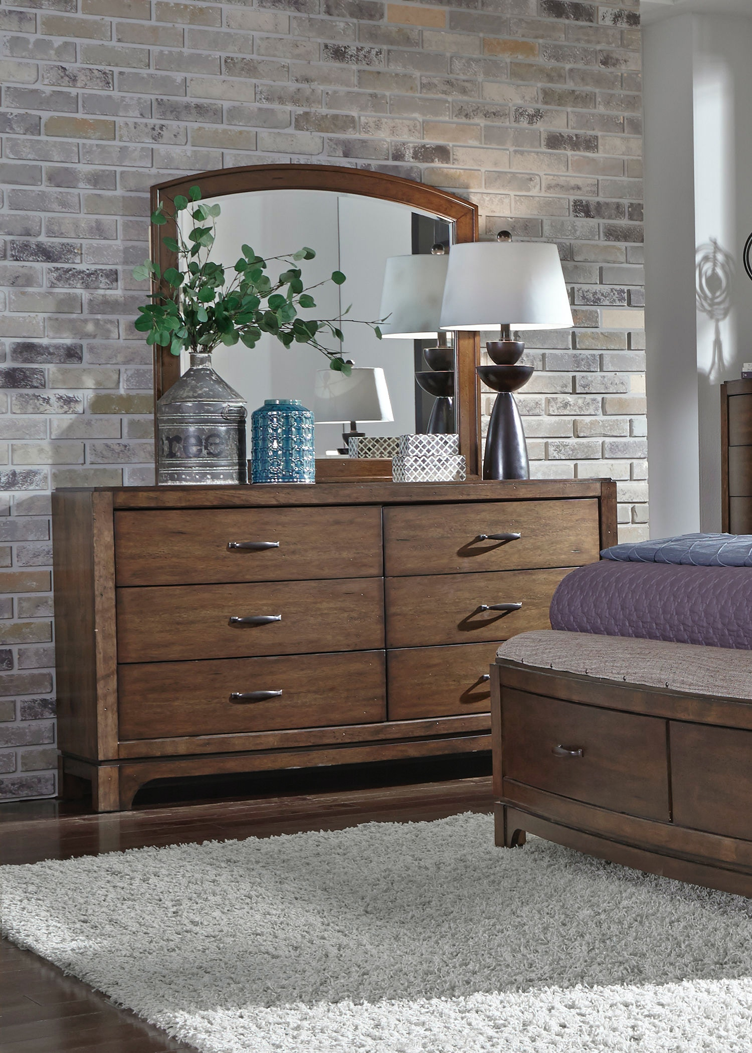 Liberty Furniture Dresser And Mirror 705 BR DM