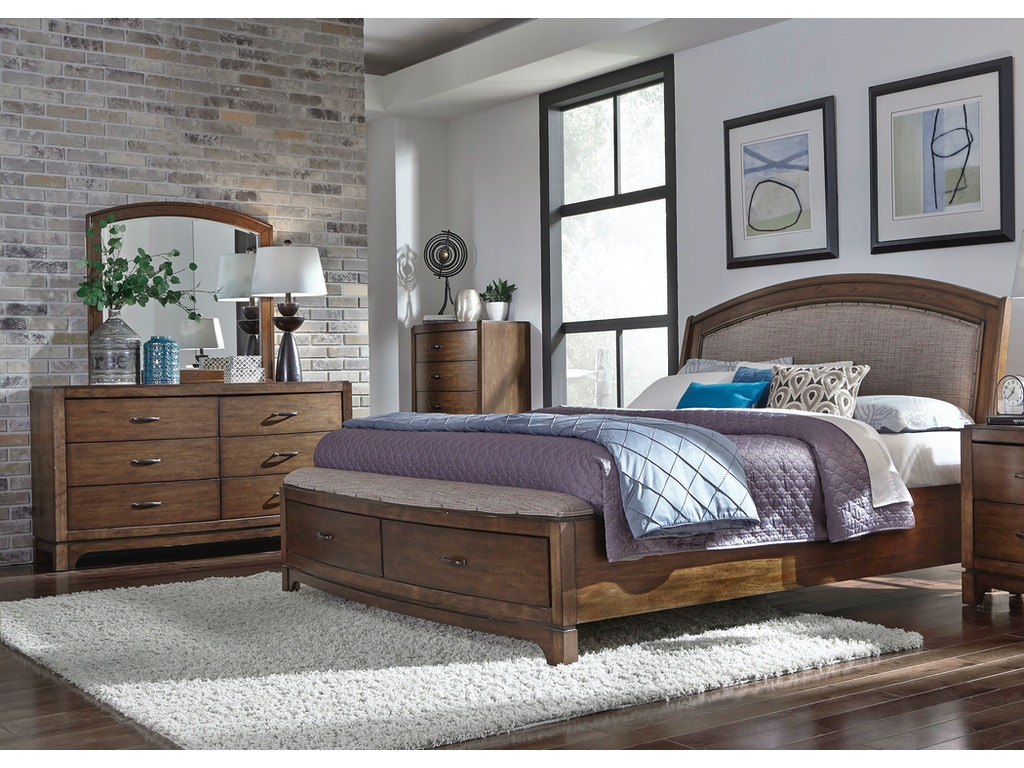 Liberty Furniture Bedroom King Storage Bed Dresser And