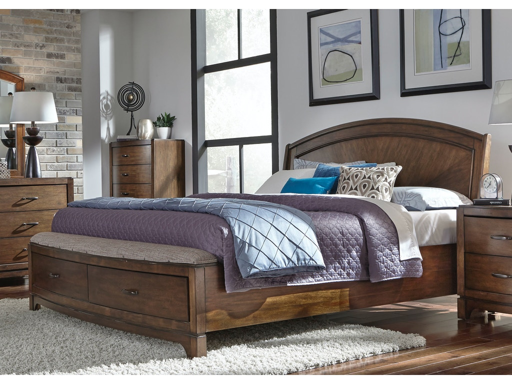 Liberty Furniture Bedroom Queen Panel Storage Bed 705 Br