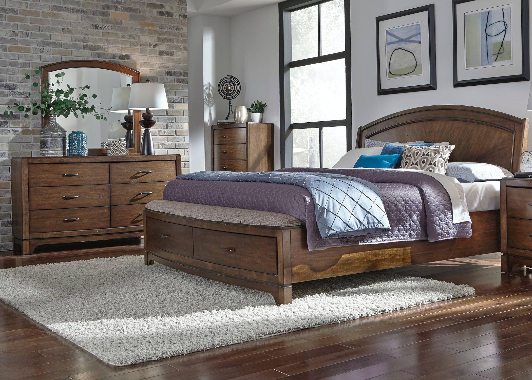 Homestead Collection Su Bedroom Queen Panel Storage Bed