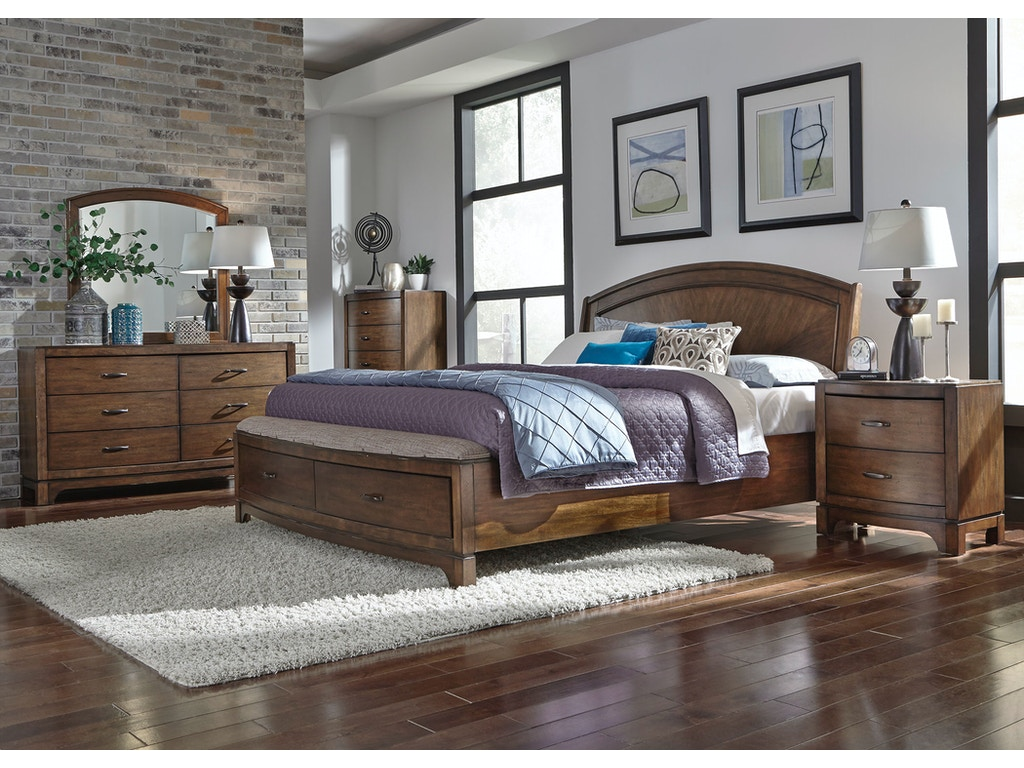 Liberty Furniture Bedroom Queen Panel Storage Bed Dresser