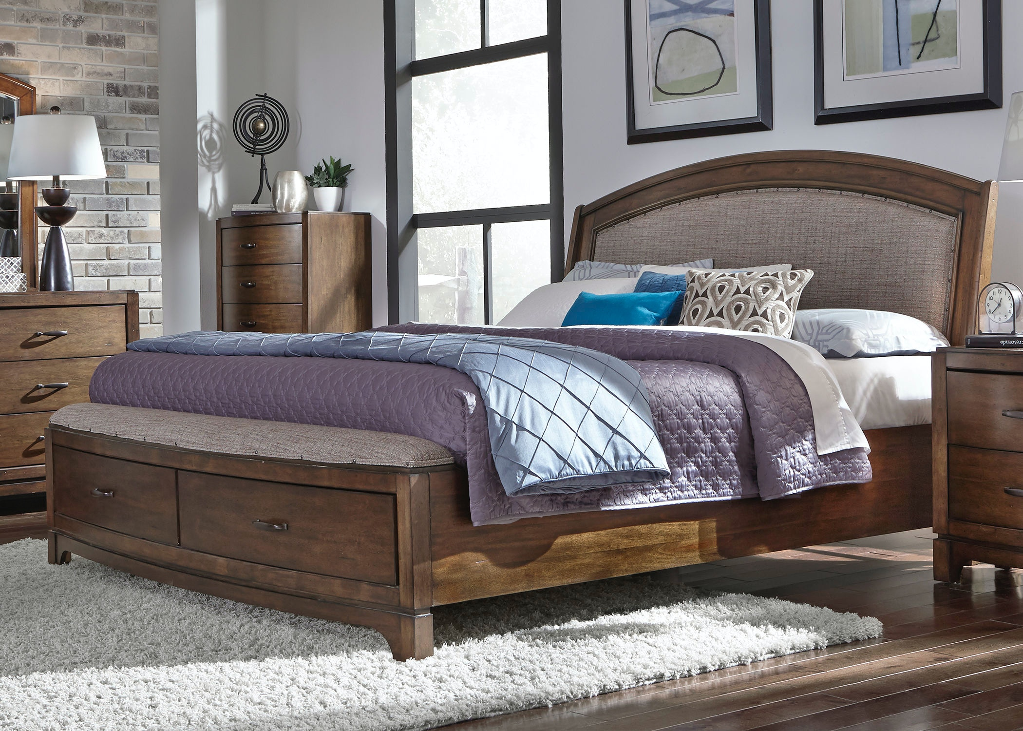 Bon Liberty Furniture Queen Storage Bed 705 BR QSB