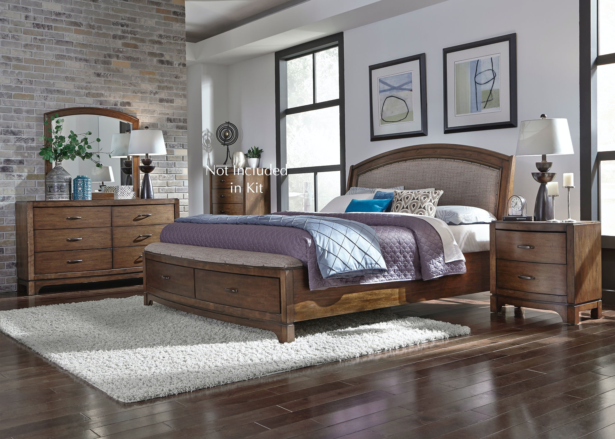 705-BR-QSBDMN. Queen Storage Bed ... & Bedroom Bedroom Sets - Davis Furniture - Poughkeepsie NY