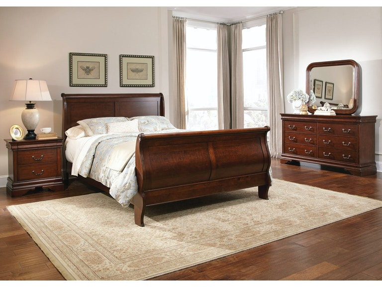 Liberty Furniture Bedroom King Sleigh Bed, Dresser and Mirror, NS