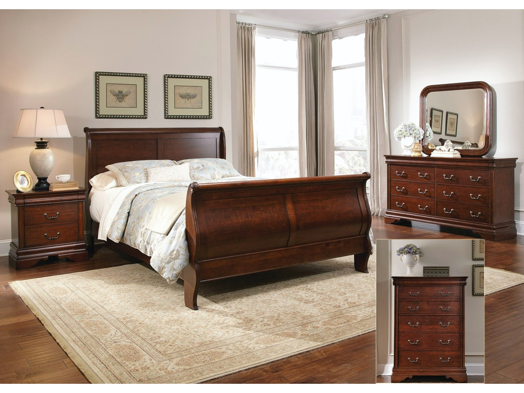 Liberty Furniture Bedroom Queen Sleigh Bed Dresser And Mirror Chest N S 709 Br Qsldmcn