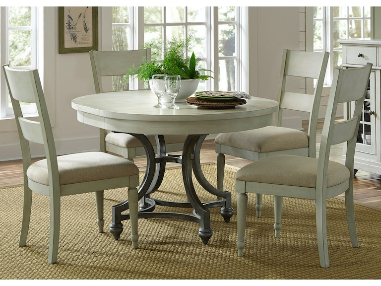 Liberty Furniture 5 Piece Round Table Set 731 DR 5ROS