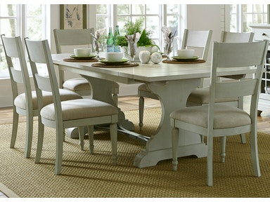 Liberty Furniture 7 Piece Trestle Table Set 731-DR-7TRS