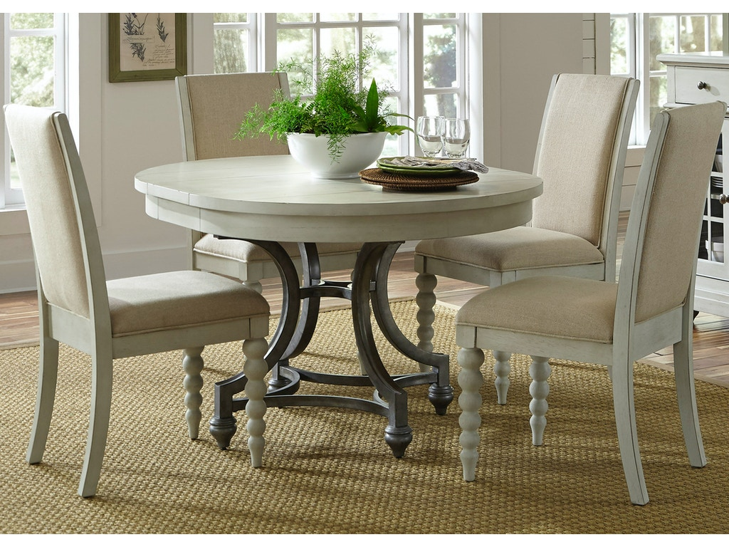 Liberty furniture dining room opt 5 piece round table set for H o rose dining room