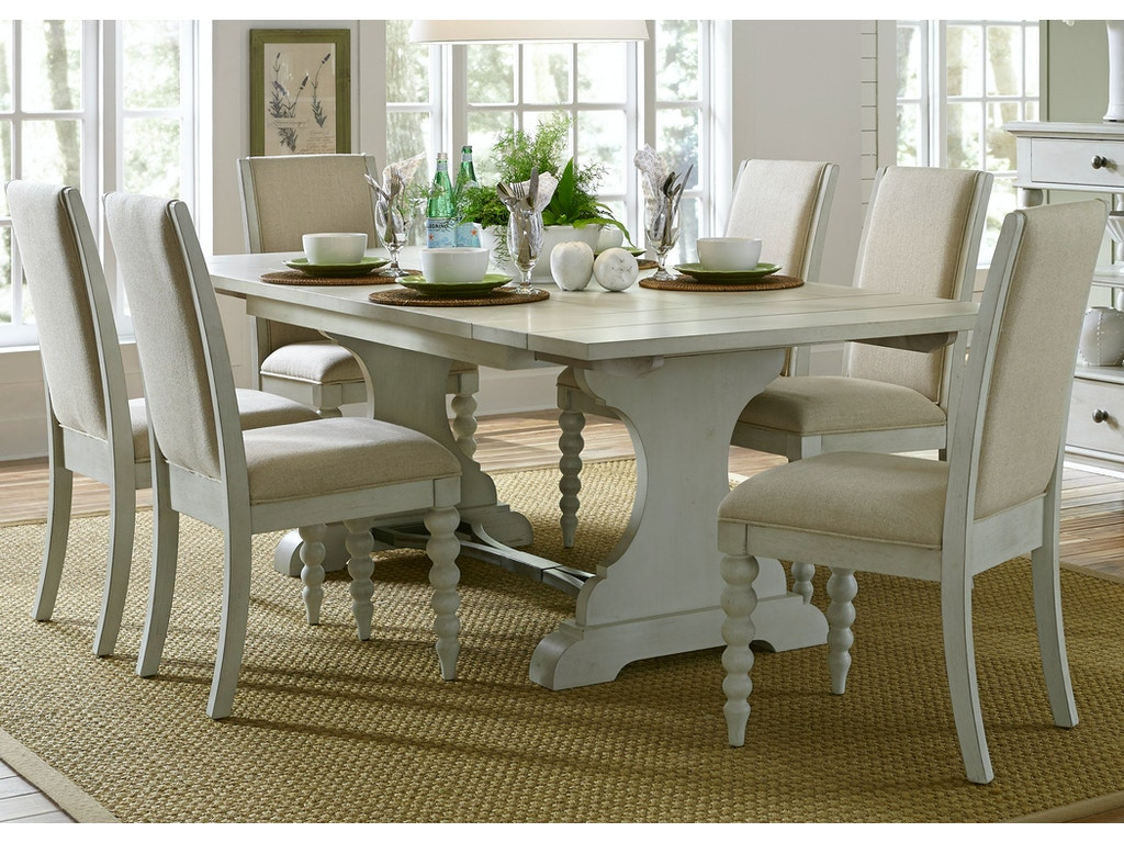 Liberty Furniture Dining Room Opt 7 Piece Trestle Table Set 731 DR O7TRS Tyndall
