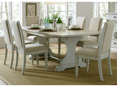 Liberty Furniture Opt 7 Piece Trestle Table Set 731-DR-O7TRS
