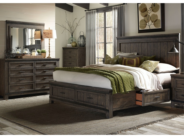 Liberty Furniture Bedroom King Two Sided Storage Bed Dresser And Mirror Chest 759 Br K2sdmc At Lauters Fine