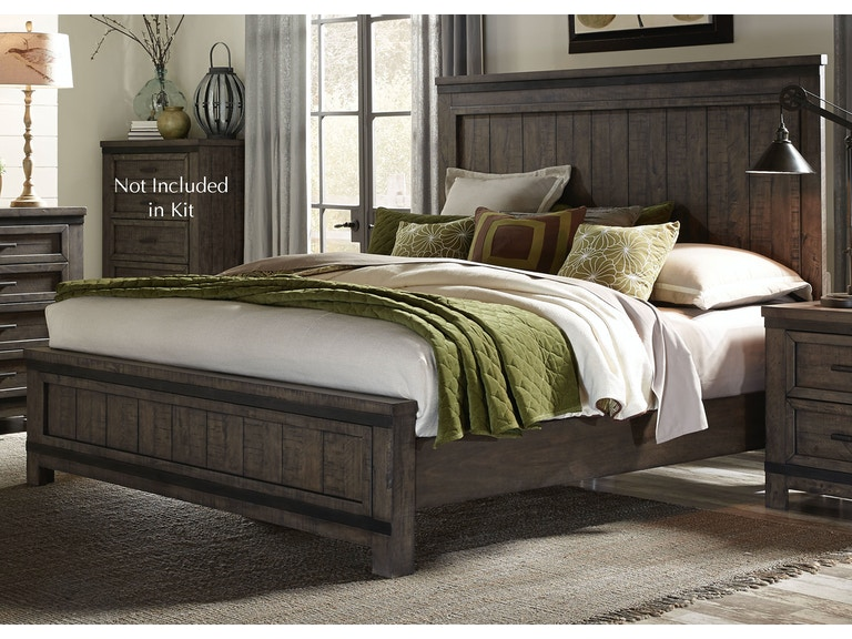 Liberty Furniture Bedroom King Panel Bed Dresser And