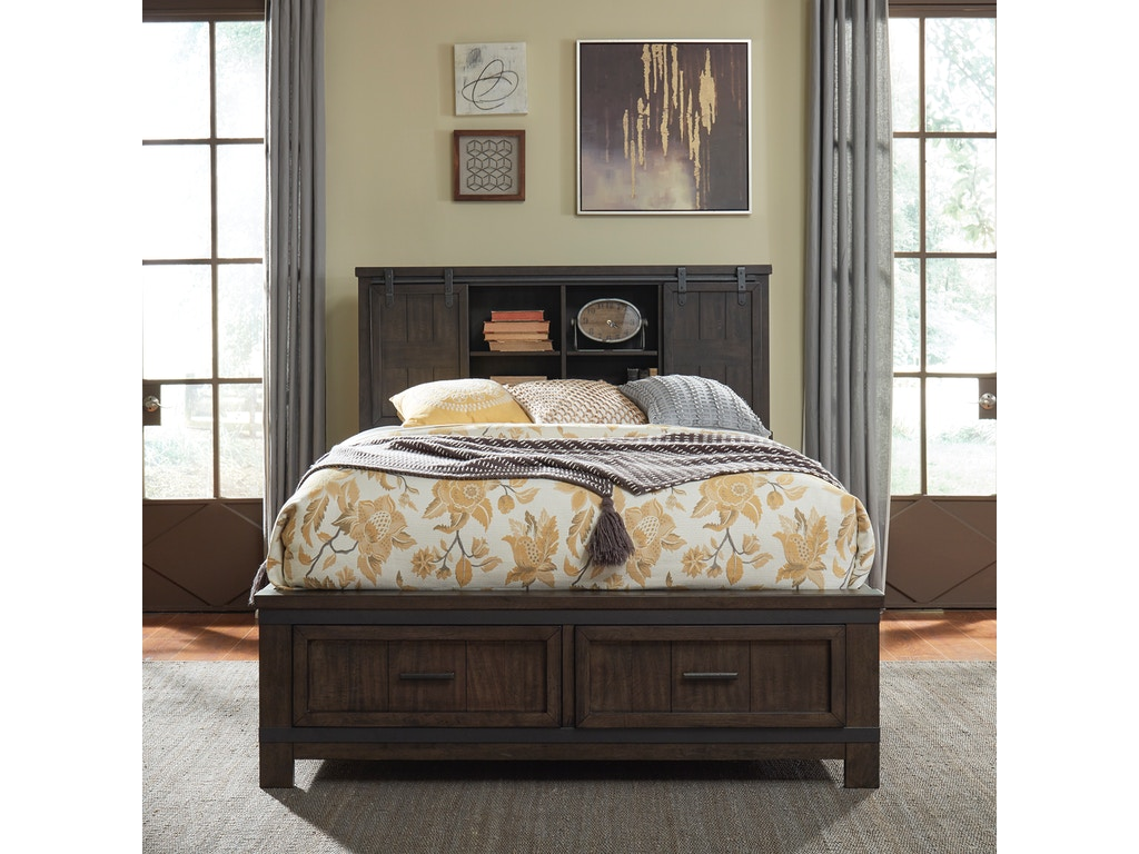 Liberty Furniture Bedroom Queen Bookcase Bed 759 Br Qbb Ifurnish Frisco And Kremmling Co
