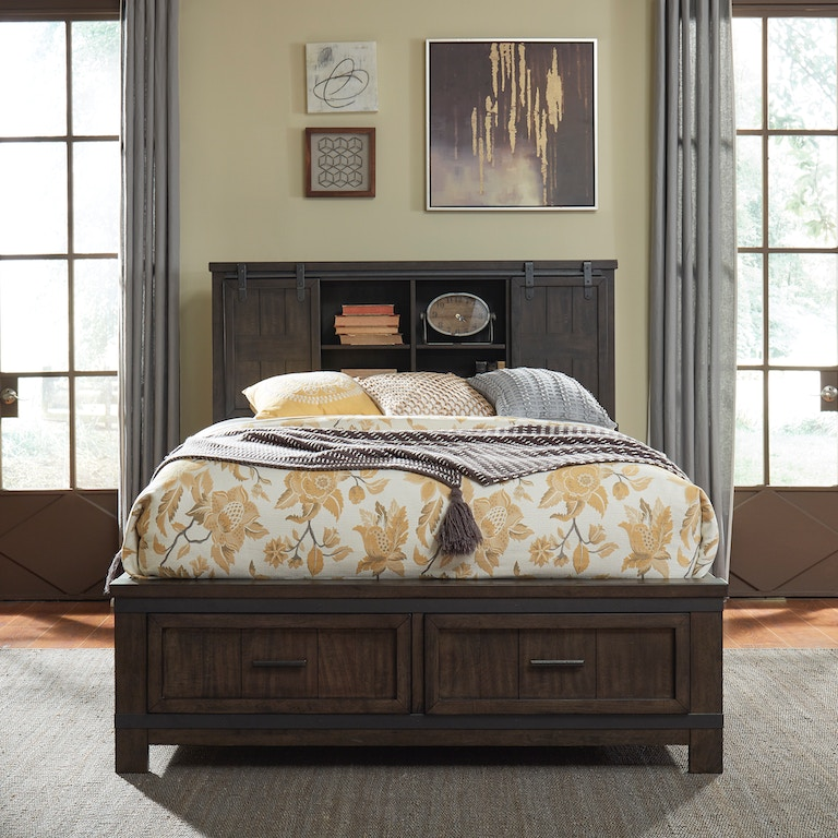 Liberty Furniture Bedroom Queen Bookcase Bed 759 Br Qbb