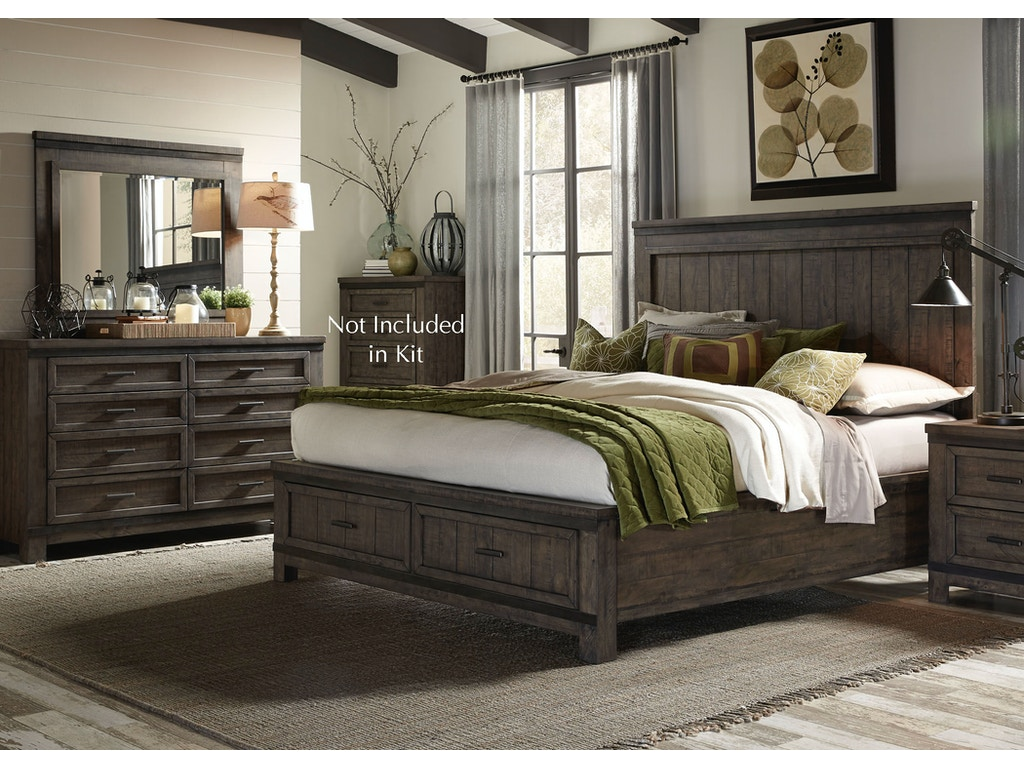 Liberty furniture bedroom queen storage bed dresser and for Bedroom furniture jersey
