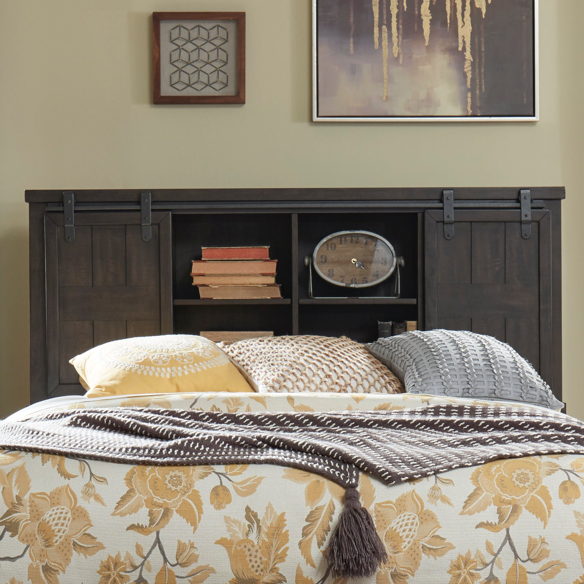 Liberty Furniture Bedroom Queen Bookcase Headboard 759 Br13b
