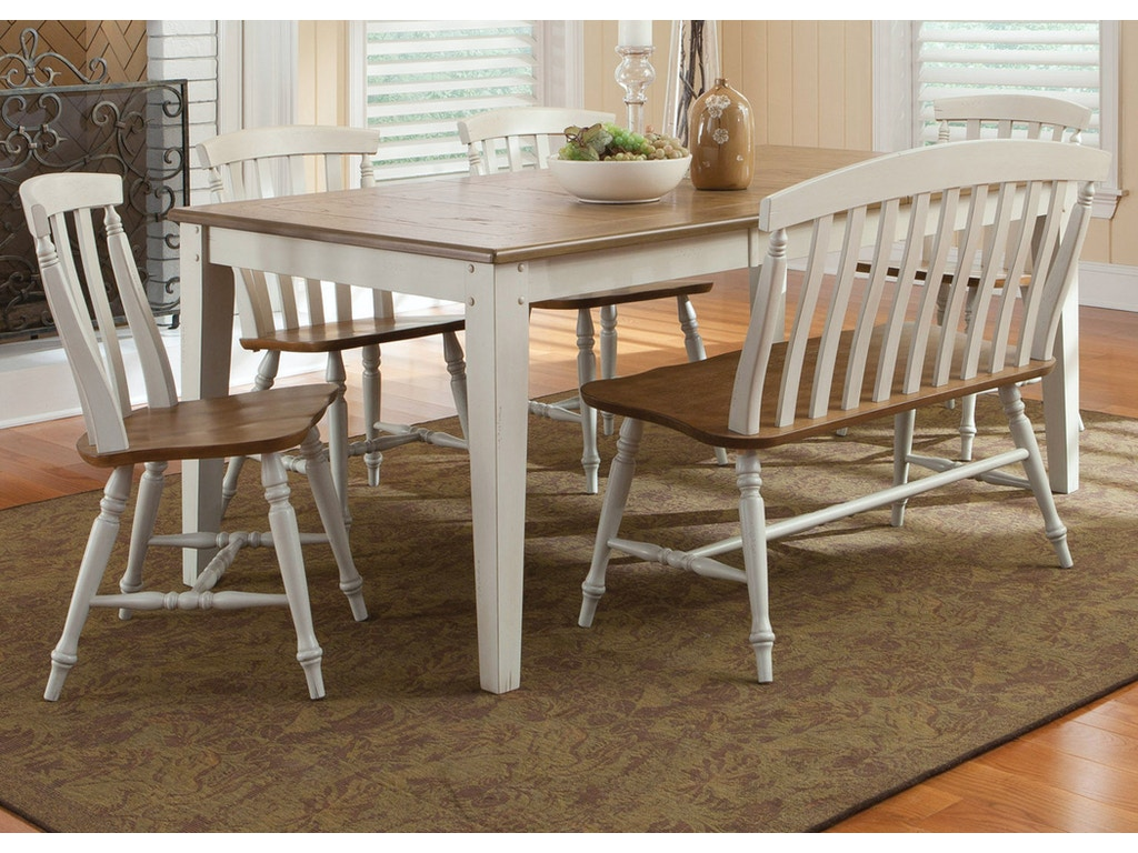 Homestead collection su dining room 6 piece rectangular for Table th visible