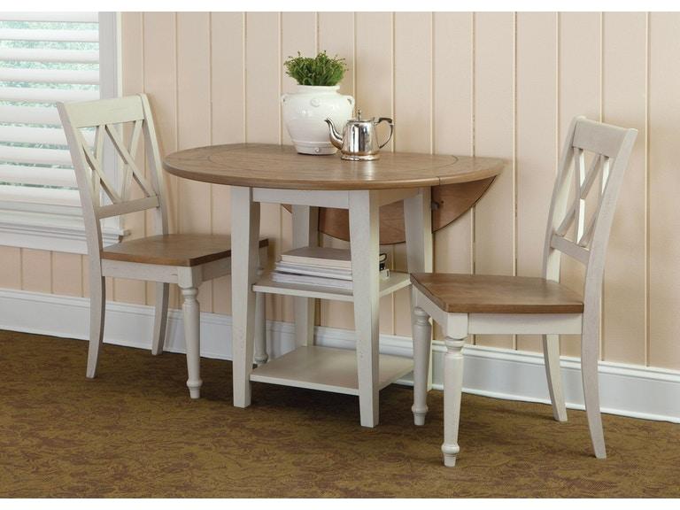 Liberty Furniture Dining Room Opt 3 Piece Drop Leaf Table Set 841 Cd