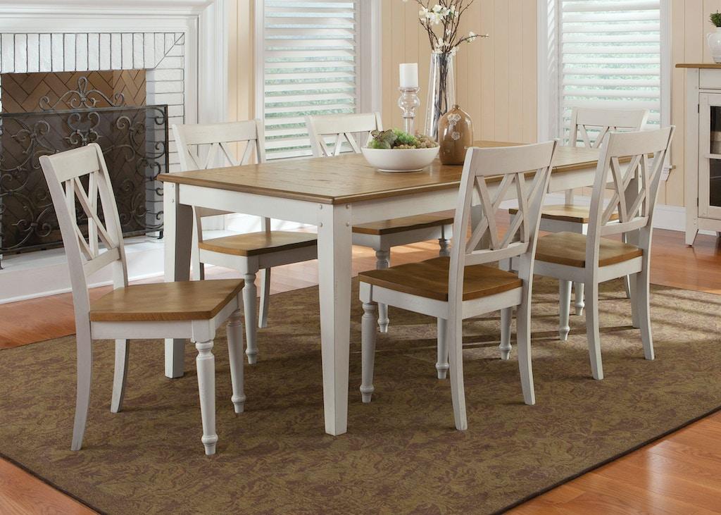 Liberty Furniture Dining Room Rectangular Leg Table 841 T4074