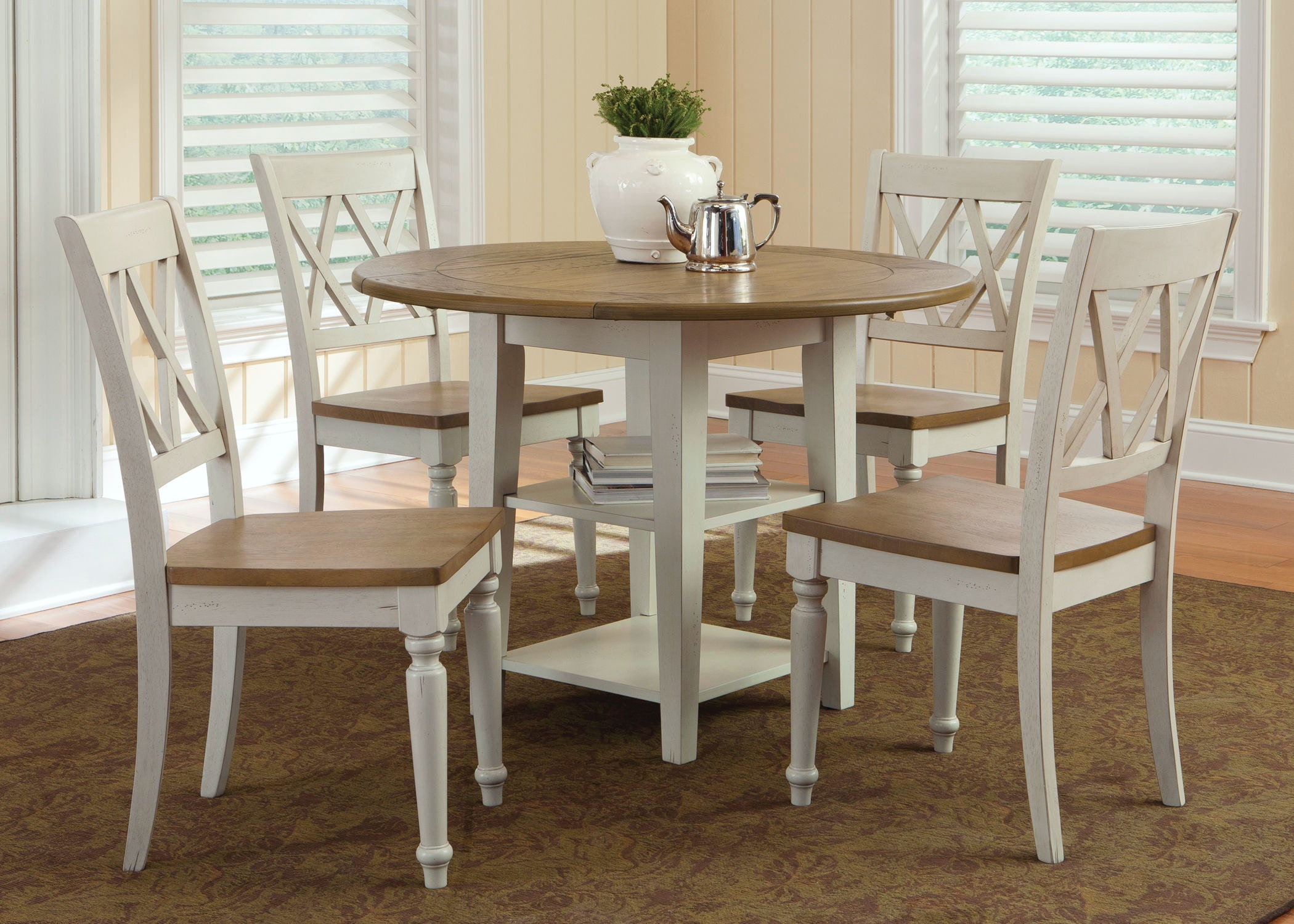 Al Fresco III Dining Drop Leaf Leg Table 841-T4242 & Liberty Furniture Dining Room Opt 3 Piece Drop Leaf Table Set 841-CD ...