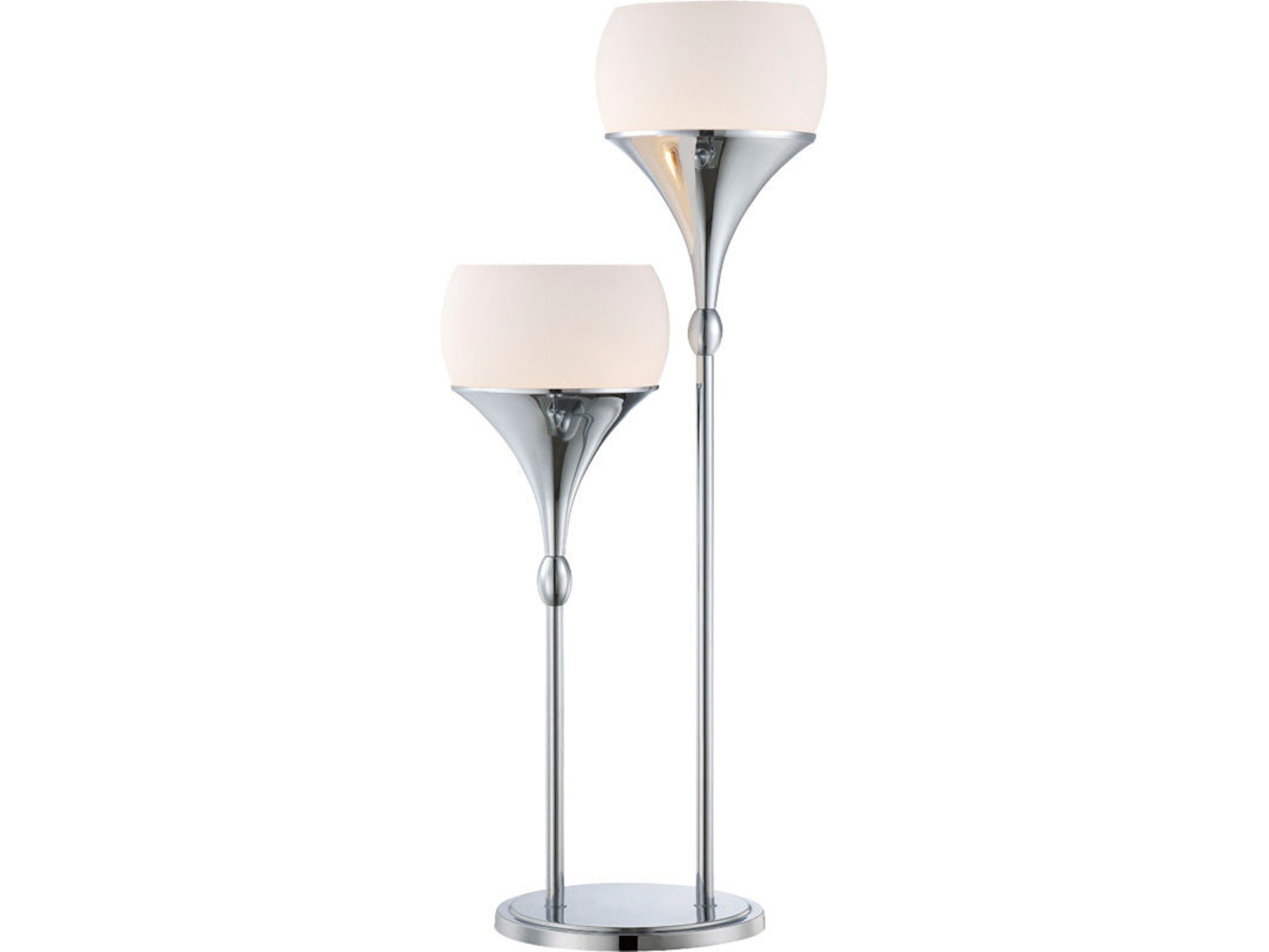 Polished Chrome 2-Lite Table Lamp 045669