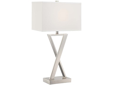 Chrome X Table Lamp 043021