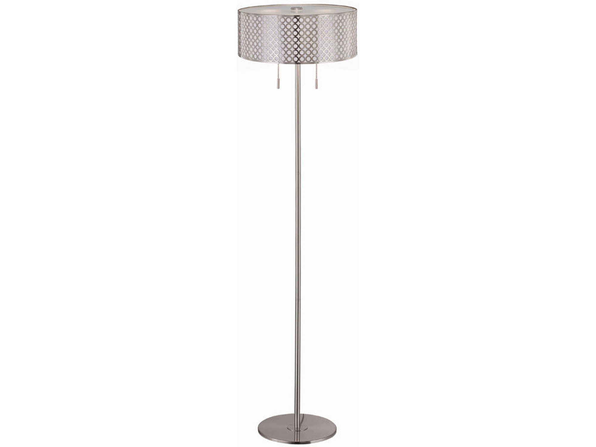 Metal Cut-Out Lined Shade Floor Lamp 101551