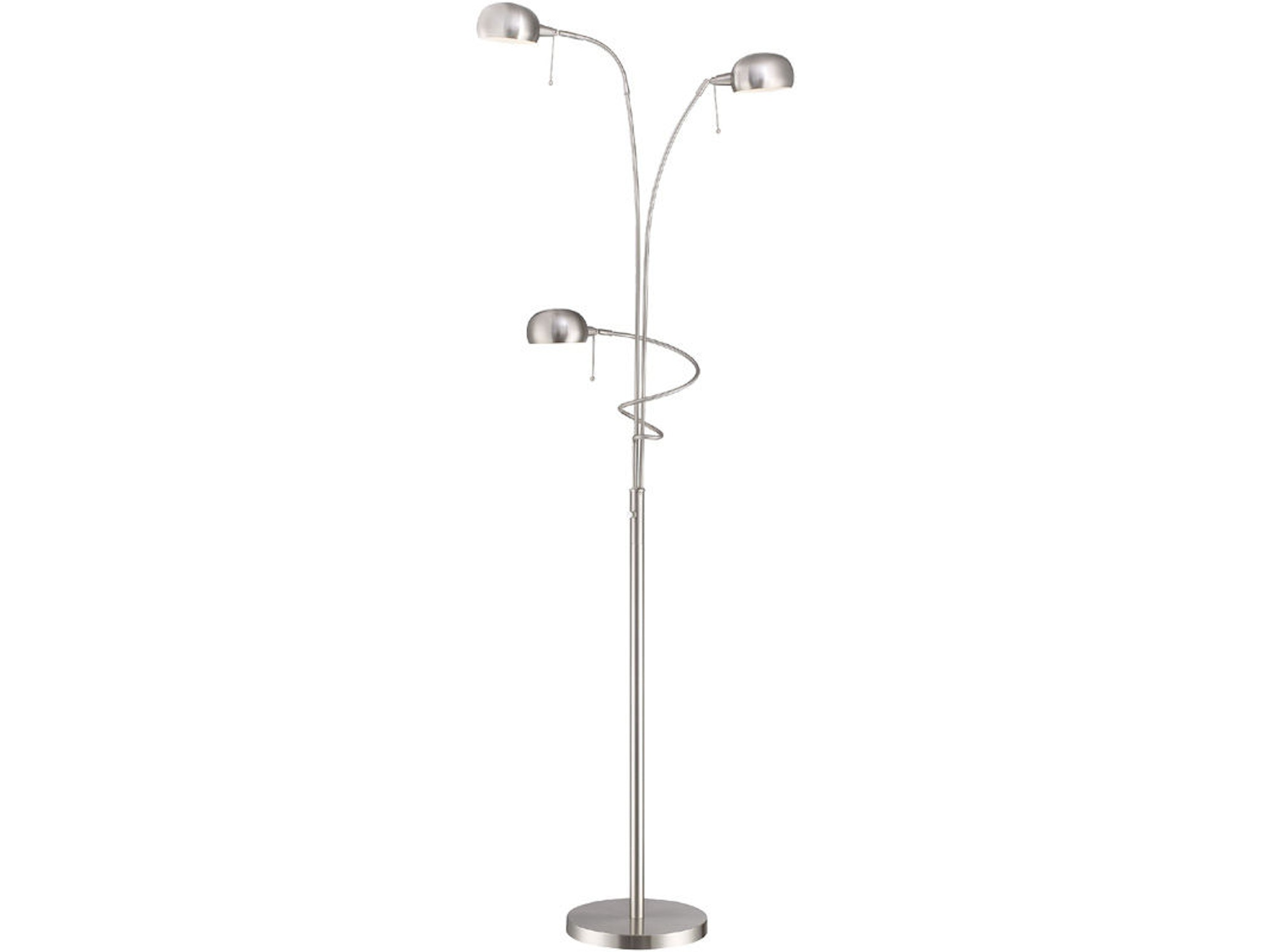 2-Lite Floor Lamp with Reading Lamp 036036