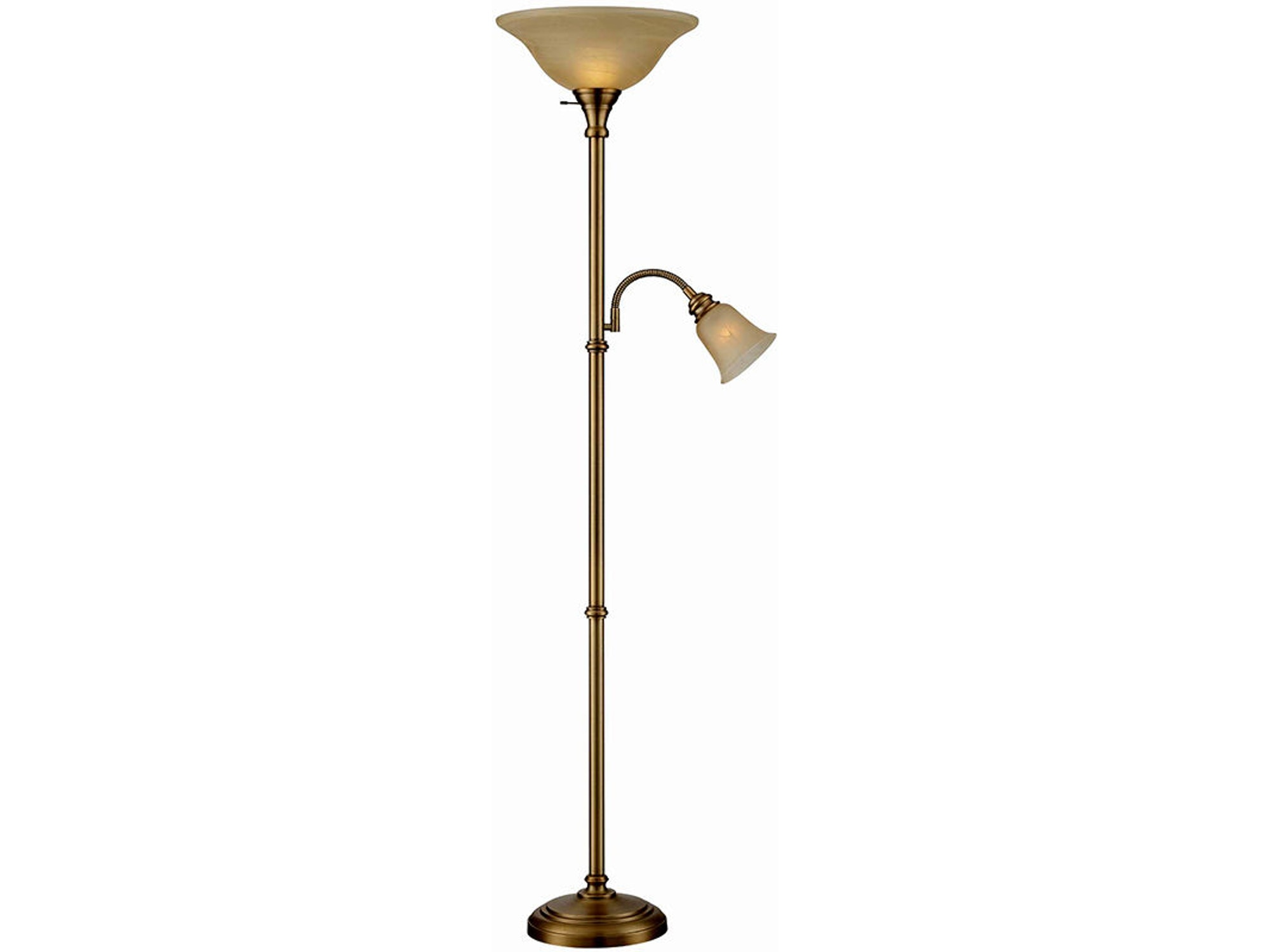 Torchiere Reading Lamp Combo 045667