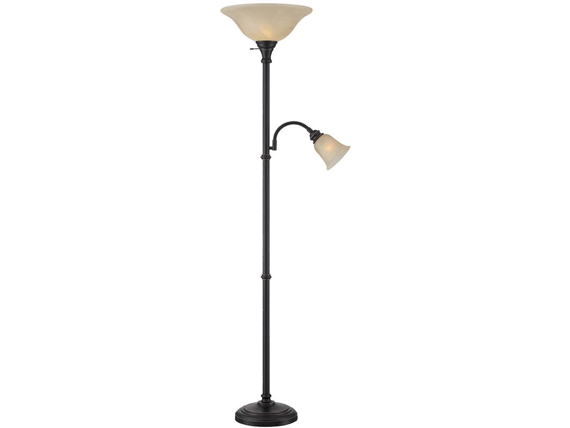 Torchiere Reading Lamp Combo 045666