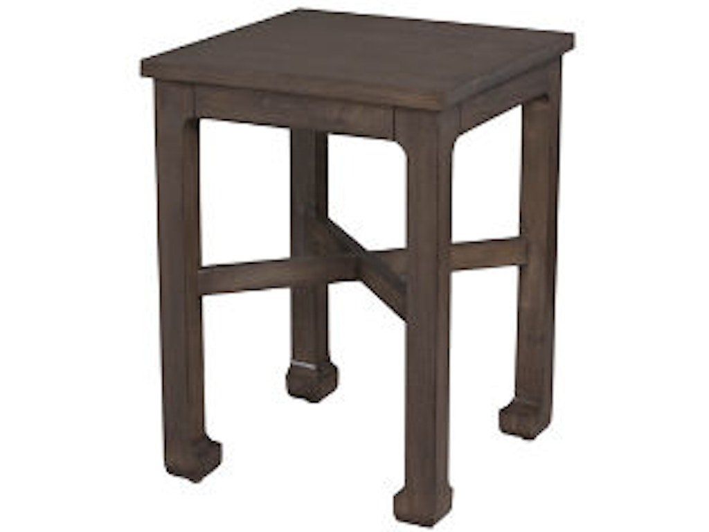Lorts Manufacturing Living Room Square Chair Side Table 3784 Hickory Furniture Mart Hickory Nc