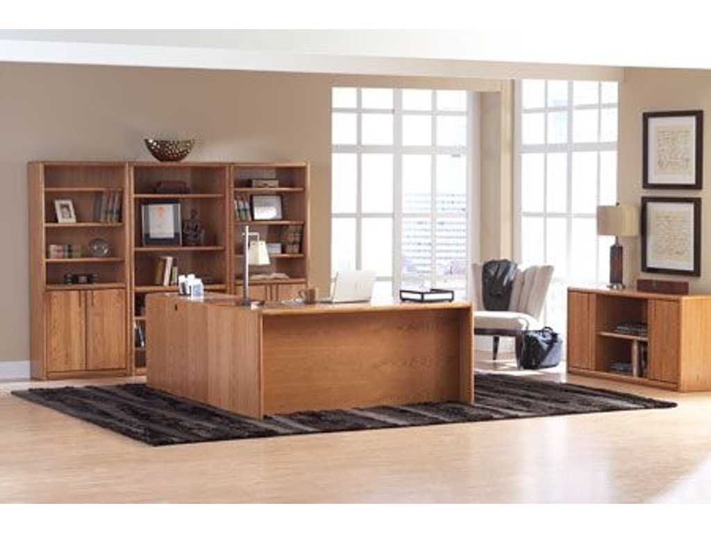 Martin home furnishings home office storage credenza 00672 charter furniture dallas fort - Home office furniture dallas tx ...