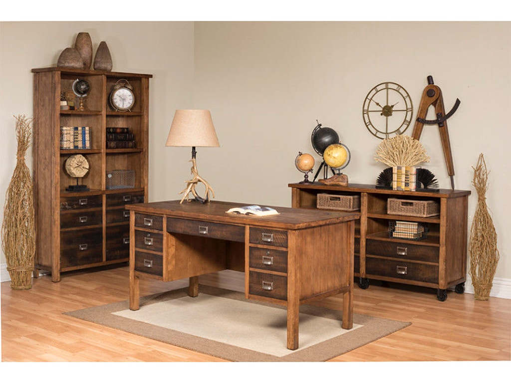 Martin Home Furnishings Home Office Half Pedestal Desk Imhe660 Simply Discount Furniture