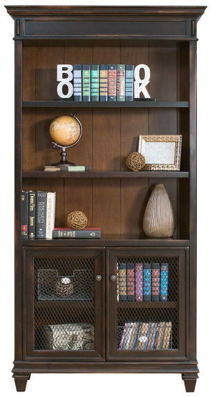 Martin Home Furnishings Home Office Bookcase With Lower