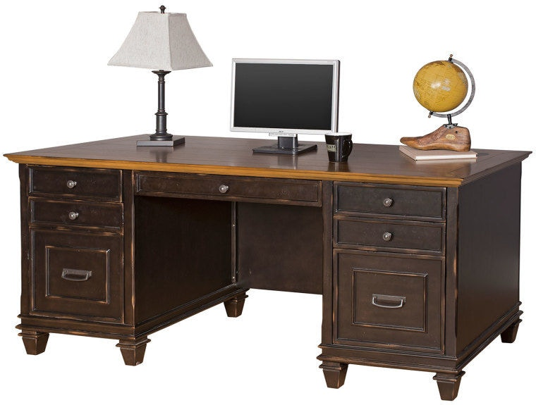 Martin Furniture Home Office Double Pedestal Desk Imhf680