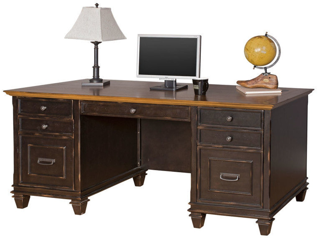 Martin Home Furnishings Home Office Double Pedestal Desk Imhf680 Simply Discount Furniture