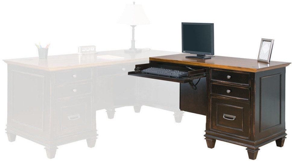 Martin Home Furnishings Home Office Right Hand Facing