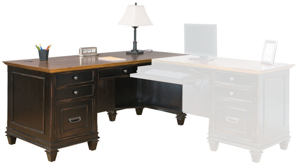 Martin Furniture Home Office Right Hand Facing L Shaped