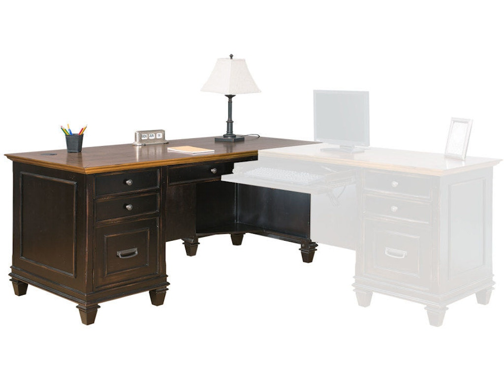 Martin Home Furnishings Right Hand Facing L Shaped Desk Imhf684r Flemington Department Store