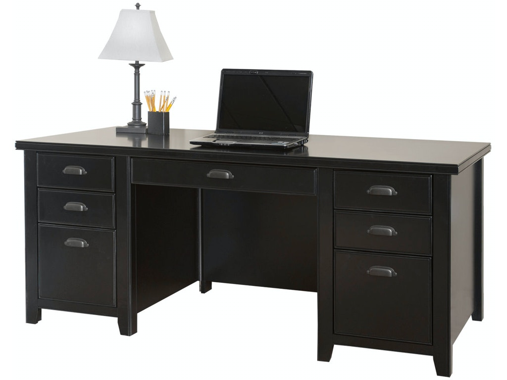 Martin Home Furnishings Home Office Double Pedestal Executive Desk Tl680 Simply Discount