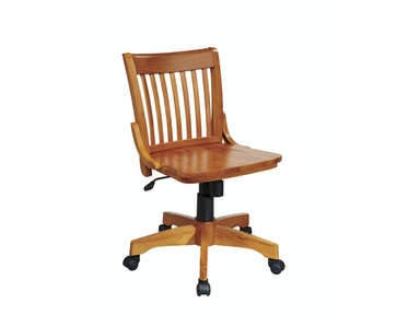 Office Star Products Deluxe Armless Wood Banker