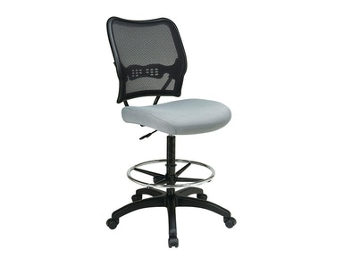Office Star Products Airgrid® Back And Custom Fabric Seat Drafting Chair 13-7N20D-B