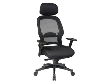 Office Star Products Professional Black Breathable Mesh Back Chair 25004